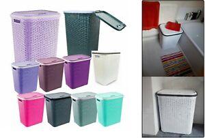 Extra-Large-Rattan-Plastic-Laundry-Bin-Multi-Storage-Solution-Washing-Basket-Box