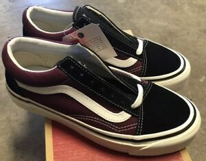 Vans-Old-Skool-36-DX-Anaheim-Factory-Black-Sz-Men-s-6-Women-s-7-5-NIB-Burgundy
