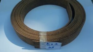 """2""""-wide x 3/16"""" thick Woven Brake Lining ~ sold by the foot"""