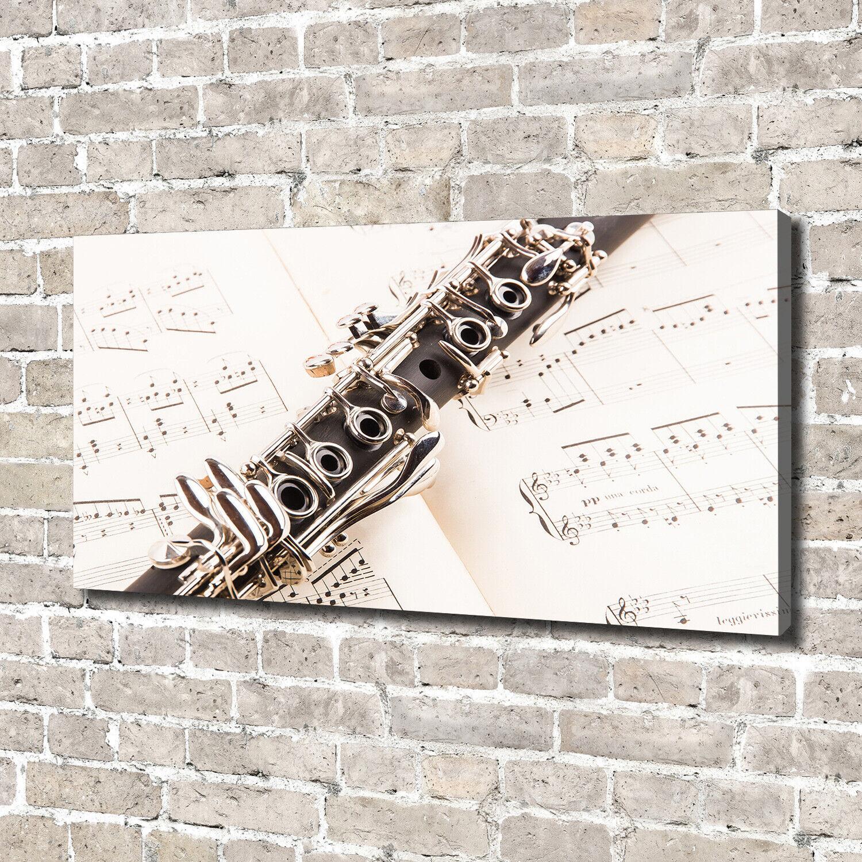 Leinwandbild Kunst-Druck 140x70 Bilder Musik Klarinette