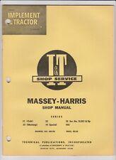 Massey Harris Mh 5a 21 Colt 23 Mustang 33 44 Special 55 555 Iampt Shop Manual