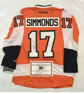 cheaper ab274 17098 Wayne Simmonds Signed AUTOGRAPHED Philadelphia Flyers JERSEY COA NHL | eBay