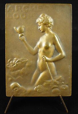 2019 úLtimo DiseñO Médaille La Baule 1923 à Melle L Deliesse Archéologie Egypte Femme Nue Vernier