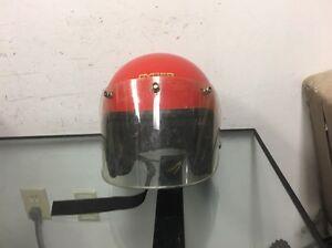 6f5d9698 Vintage Red Cyber U-4 Helmet w/Visor and Face Shield - Small | eBay