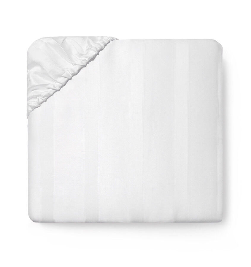 ITALY SFERRA GIZA 45 STRIPE EGYPTIAN COTTON SATEEN JACQUARD FITTED SHEET