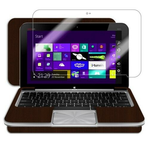 Skinomi Tablet Skin Dark Wood+Screen Protector for HP Envy x2 with Keyboard