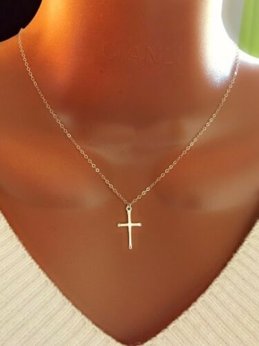 custom make great gift for her brand new Women Sterling Silver Cross necklace