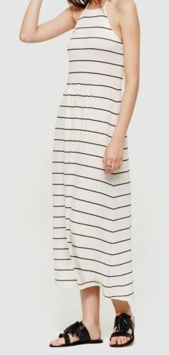 Small NWT Ann Taylor LOFT Lou /& Grey Stripe Cutaway Midi Dress Size X-Small