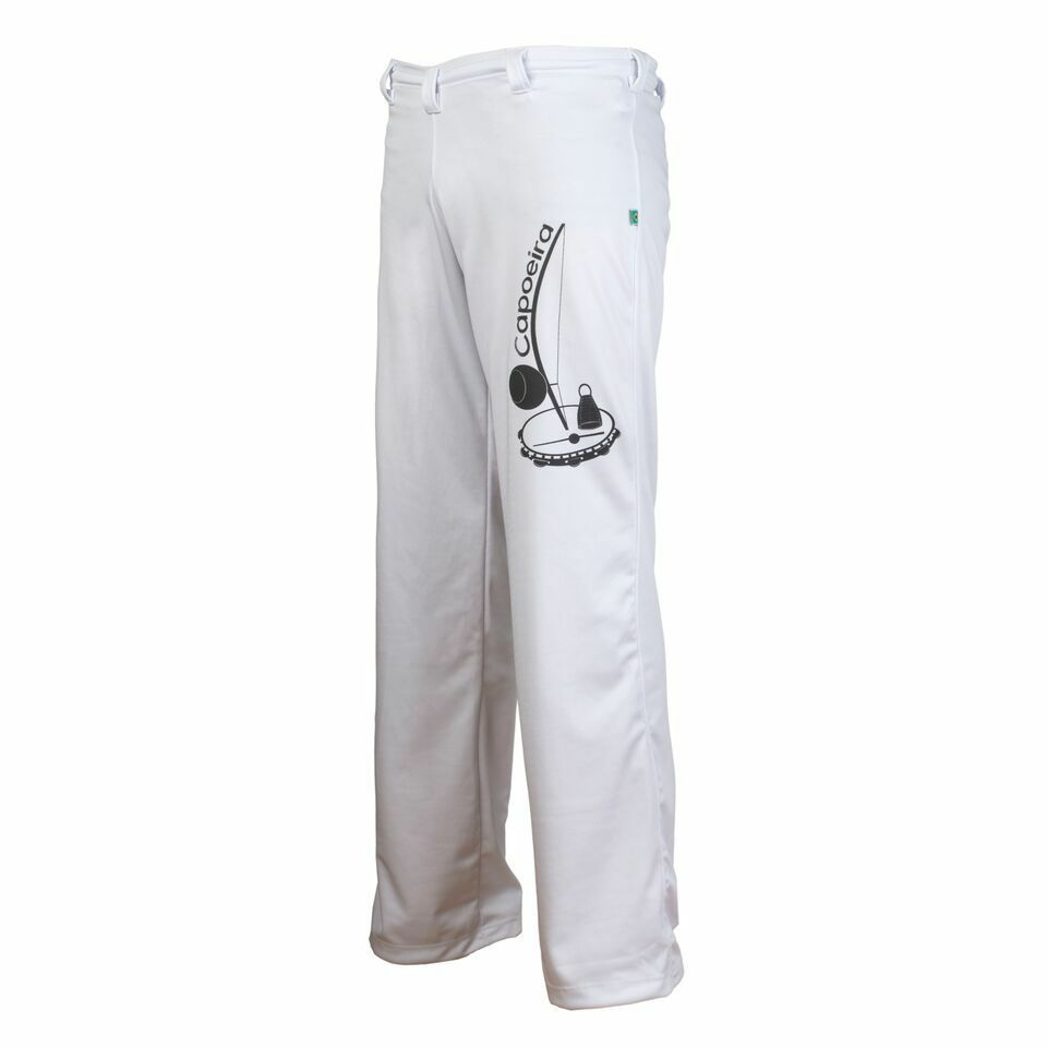 Unisex White Brazil Capoeira Abada Martial Arts Elastic Trousers Pants 5 Sizes