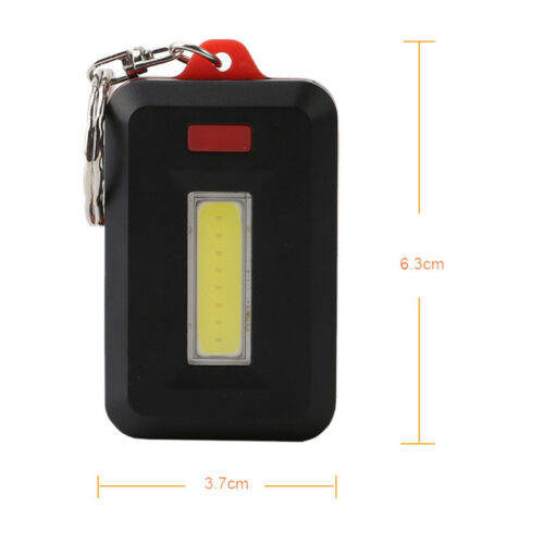Mini LED COB Flashlight Waterproof Portable Keychain Torch Light Camping Lamp CP