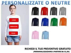 Other Maglietta Manica Lunga Bambino T-shirt Bambino Manica Lunga Jhk 100% Cotone Year-End Bargain Sale
