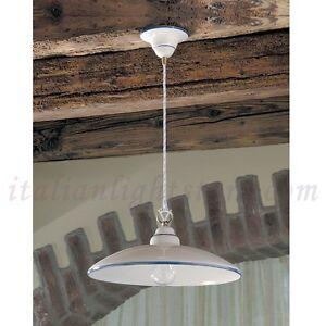 Sospensione lampadario lampada ceramica decorata rustica country taverna cucina ebay - Lampadari cucina rustica ...