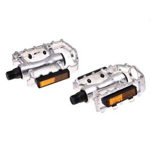 1-paire-de-pedales-plates-argentes-du-velo-de-montagne-VTT-en-alliage-d-039-alu-P3X7