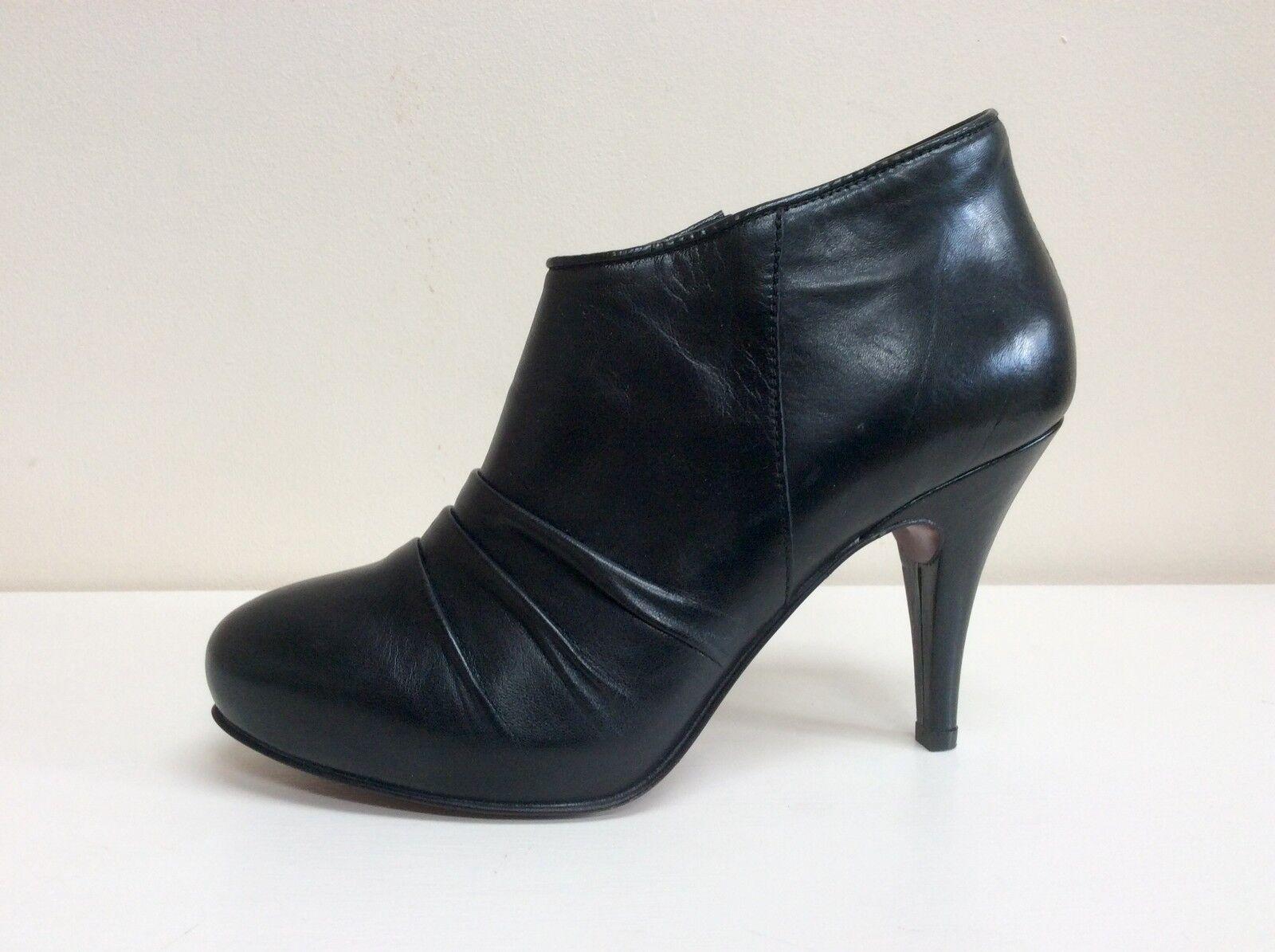 Geox De Zapato De Geox Cuero Negro Sigourney Botas, Reino Unido 7/BNWB dd1ae5