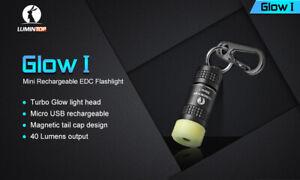 Lumintop GLOW 1 mini recharagable EDC flashlight keychain magnetic built in batt