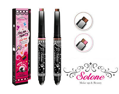 [SOLONE] Color Party 2 One Step Magical Stick Duo Eyeshadow Pen Type 1.4g NEW