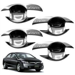 Door Handle Bowl Insert Cover Chrome Trim 4 Pc Fits Honda Civic Fd 06 07 10 11 Ebay