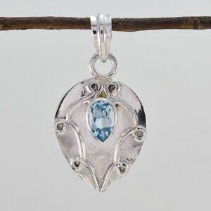 faszinierende-blaue-Topas-925-Sterling-Silber-blau-Anhaenger-echte-Designer-de