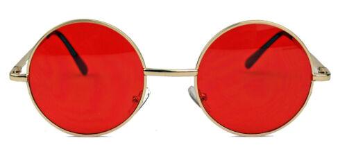 Runde Retro Sonnenbrille Metall Gestell Nickelbrille Steampunk Lennon Hippie
