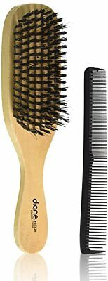 "Diane #SE824 Reinforced Boar Wave Hair Brush with free 7"" styling comb"