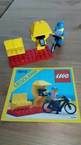 Set lego city vintage 6613 Telephone Booth completo 100/% con istruzioni