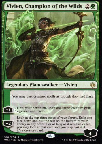 Champion of the WildsNM//MWar of the SparkMagic MTG Vivien