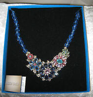 Heidi Daus Glorious Garden Swarowski Sapphire 18 Bib Necklace 2016