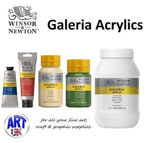 Winsor-amp-Newton-Galeria-acrylique-couleur-Toutes-Les-Tailles-Tube-pot-artistes-etudiant-peinture