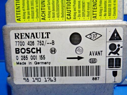 RENAULT CLIO 2 CALCULATEUR AIRBAG BOSCH 0285001155-7700426752 B