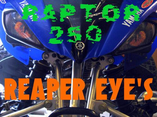 YAMAHA RAPTOR all years  REAPER HeadLight Covers