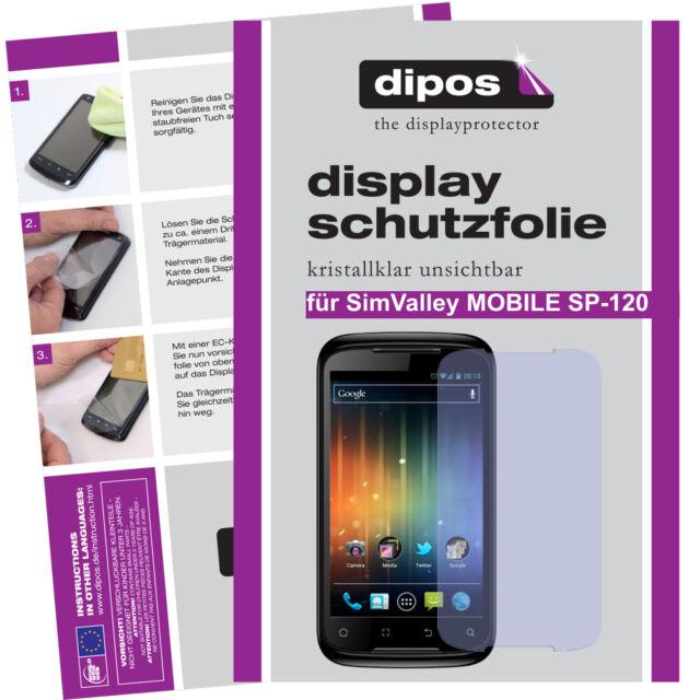 2x SimValley SP-120 Schutzfolie klar Displayschutzfolie Folie unsichtbar Display