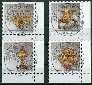 Berlin-818-821-Formnummer-gestempelt-LUXUS-ESST-Vollstempel-Berlin-12-Gummi