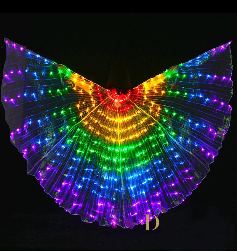Erwachsene Bauchtanz LED Isis Wings 3-lamp für Stage ägyptischen Leistungskostüm