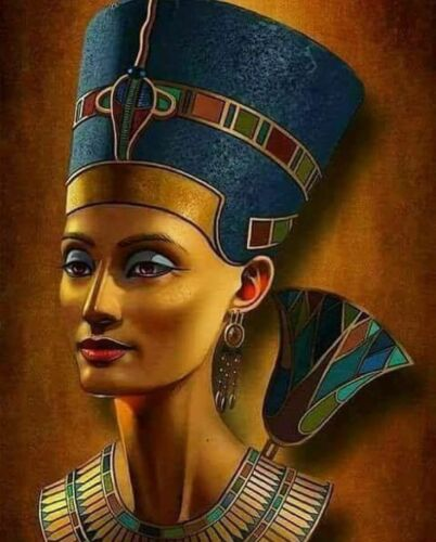 004 Reina Nefertiti B//W cross stitch chart buy 1 Get 1 Mitad De Precio