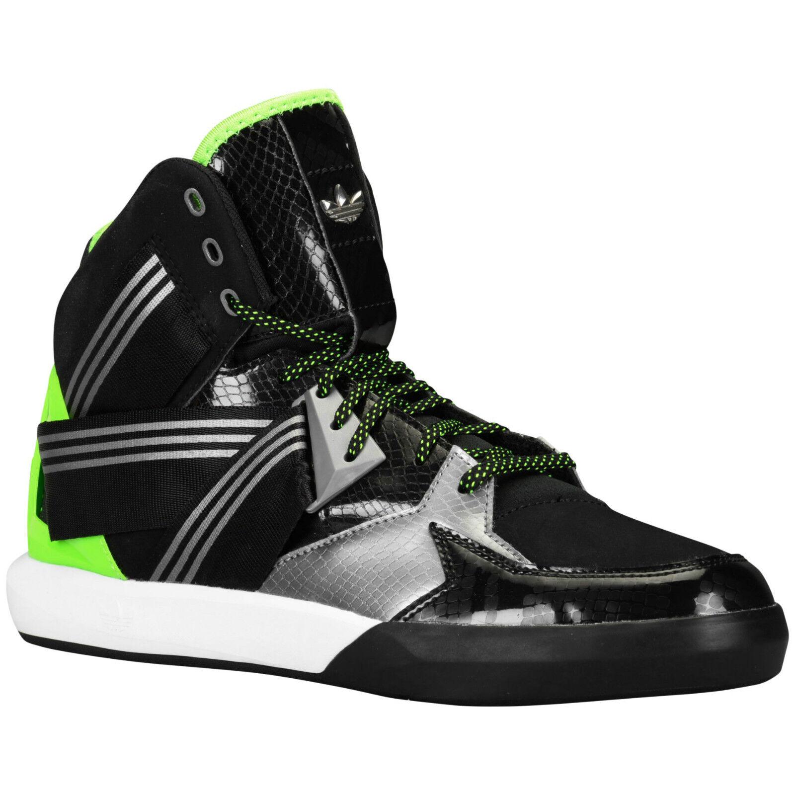 Zapatos de baloncesto Adidas Originales C-10 verde Patente Negro Plata Nubuck