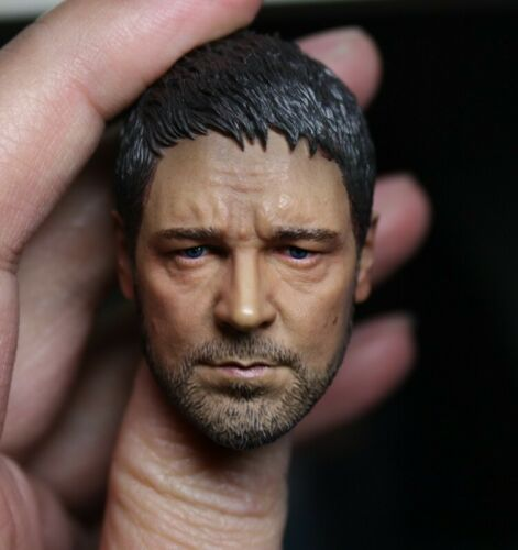 1//6 Ancient Rome Gladiator Russell Crowe Head Carving For 12/'/' FigureAccessory