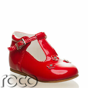 Baby-Girls-Red-Shoes-Flower-Girl-Shoes-Communion-Shoes-Bridesmaid-Shoes