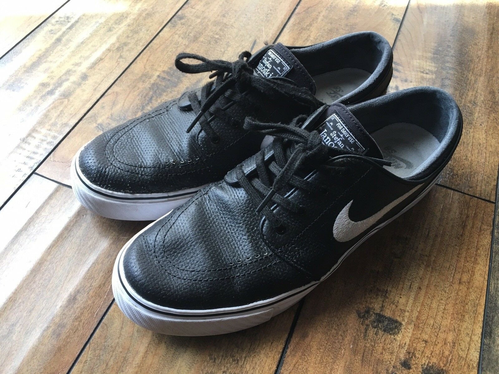- stefan janoski sb zoom air con lo skateboard di di di cuoio nero per dimensioni 9.5 | Aspetto Elegante  f69cff
