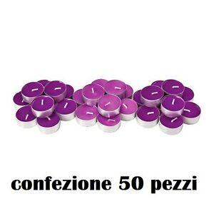 Set-50-Pezzi-Candele-Viola-Profumate-Fragranza-Lavanda-Tealight-Lumini-moc