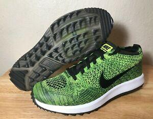 d70e8e92874ea Womens Nike Flyknit Racer G Golf Shoes SZ 8 Volt Sequoia Black New ...