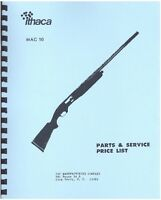 Ithaca Gun Mag 10 Semi-automatic Shotgun Parts, Service & Price List Manual