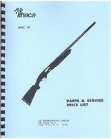 Ithaca Gun Mag 10 Semi-automatic Shotgun Parts, Service & Price List Manual