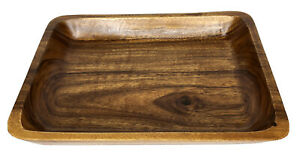 "Rectangle Wood Tray By Well Equipped Made in Philippines 14"" x 11"" Country Decor"