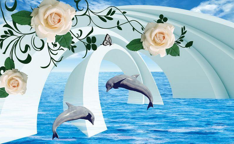 3D Flower water fish 293 Paper Wall Print Decal Wall Wall Murals AJ WALLPAPER GB