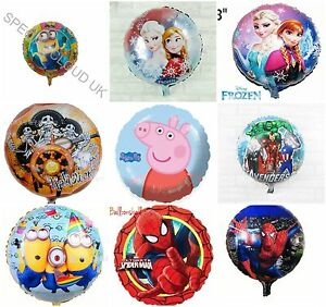 ALL-039-ingrosso-45-7cm-Disney-Frozen-forma-rotonda-elio-Foil-Personaggio-Spiderman
