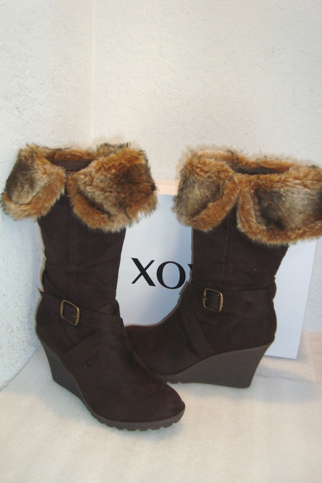 XOXO Footwear NWB Olivia Braun Stiefel Schuhes 8 MED NEW