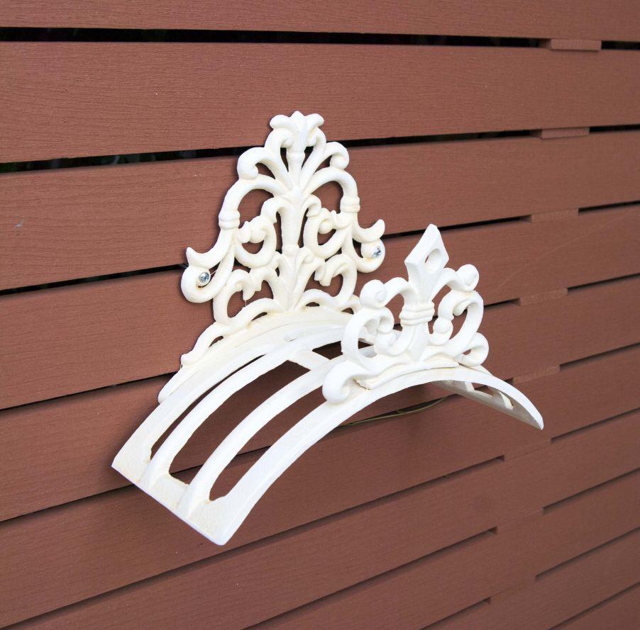 Hose Holder Cast Iron Formal Decorative Hose Reel Hanger Weiß Antique Mr Gecko