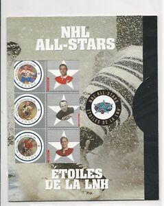 CANADA-NHL-ALL-STARS-FULL-SHEET-amp-FOLDER-2001-MINT
