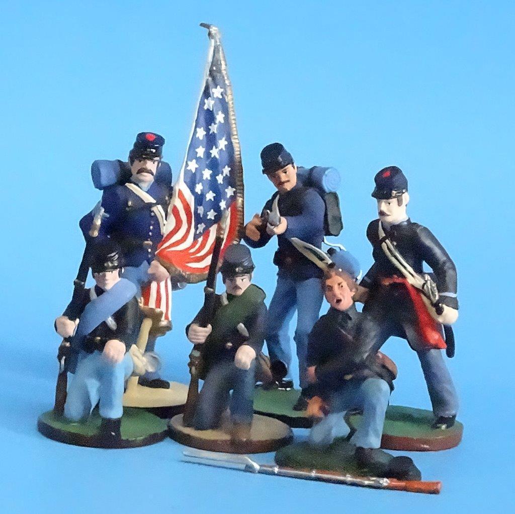 CORD-267 - Union Infantry Vignette (6 Figures) - ACW - Niena - 54mm Metal
