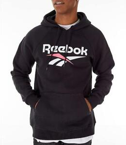 LG NEW REEBOK CORE DELTA TRAIL HOODIE GREY HEATHER SZ